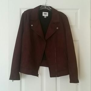 Faux leather/suede moto style jacket